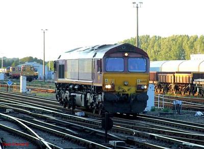 EWS 66005 Eastleigh. 21st May 2009.