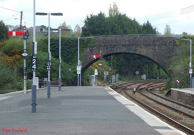 The view towards Lostwithiel from the up platform at Par on 8th May 2010.
