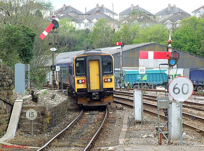 FGW 153 372 & 153 329 are seen leaving Truro with the 11.20 service to Falmouth Docks on 8th May 2010.