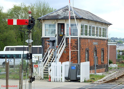 Truro signalbox, on the up side at the east (Plymouth) end of the station. 8th May 2010.