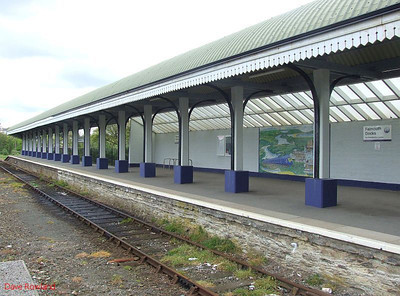 The solitary platform at Falmouth Docks on 8th May 2010.