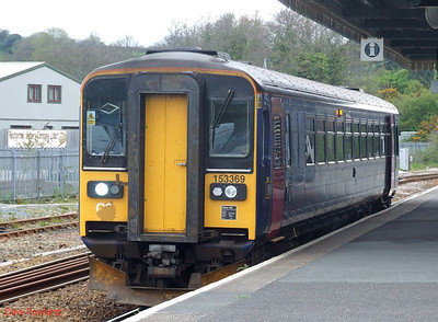 FGW 153 369 is seen again after arrival at Par, where it now forms the 09.19 service to Newquay. 8th May 2010.