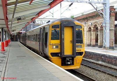 ATW 158 839 Crewe 15th July 2010.