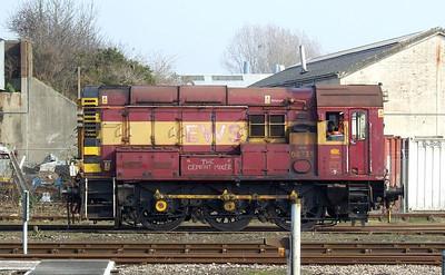 EWS 08735, Eastleigh, 8th March 2011.