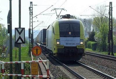 Dispolok 182 010 (ES64U2 010), Himmelstadt, 20th April 2011.