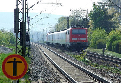 DB 111 177, 111 219, Himmelstadt, 20th April 2011.