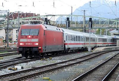 DB 101 050, Salzburg Hbf, 16th April 2011.