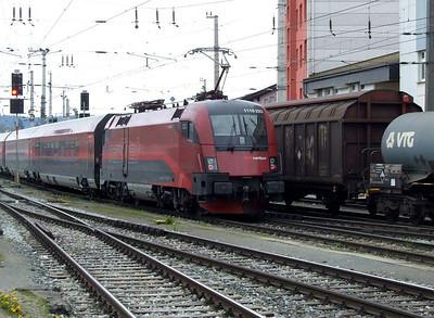 OBB Railjet 1116 223, Salzburg Hbf, 16th April 2011.