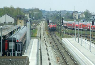 DB 218 440, Mühldorf (Oberbay), 16th April 2011.
