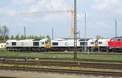 247 044, 247 047, 247 048, Mühldorf depot, 16th April 2011.