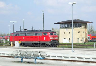 DB 218 433, Mühldorf (Oberbay), 16th April 2011.