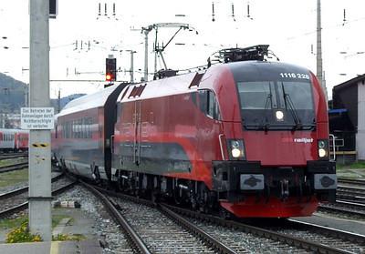 OBB Railjet 1116 228, Salzburg Hbf, 16th April 2011.