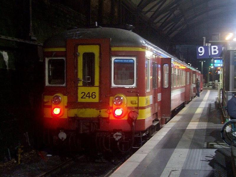 SNCB 246 at Aachen Hbf, 12th November 2012.