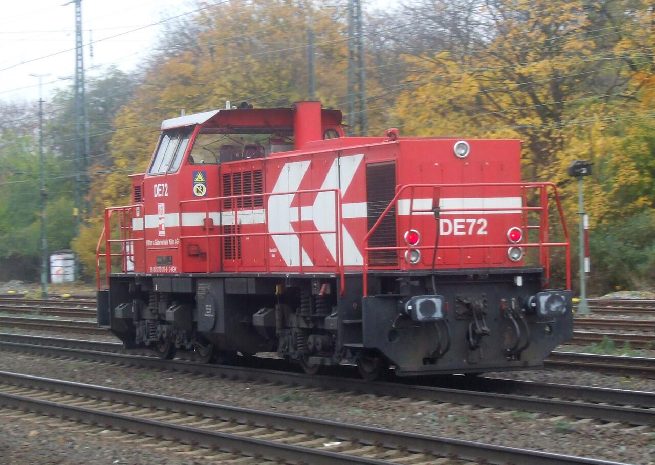 DE 72 at Köln West, 13th November 2012.