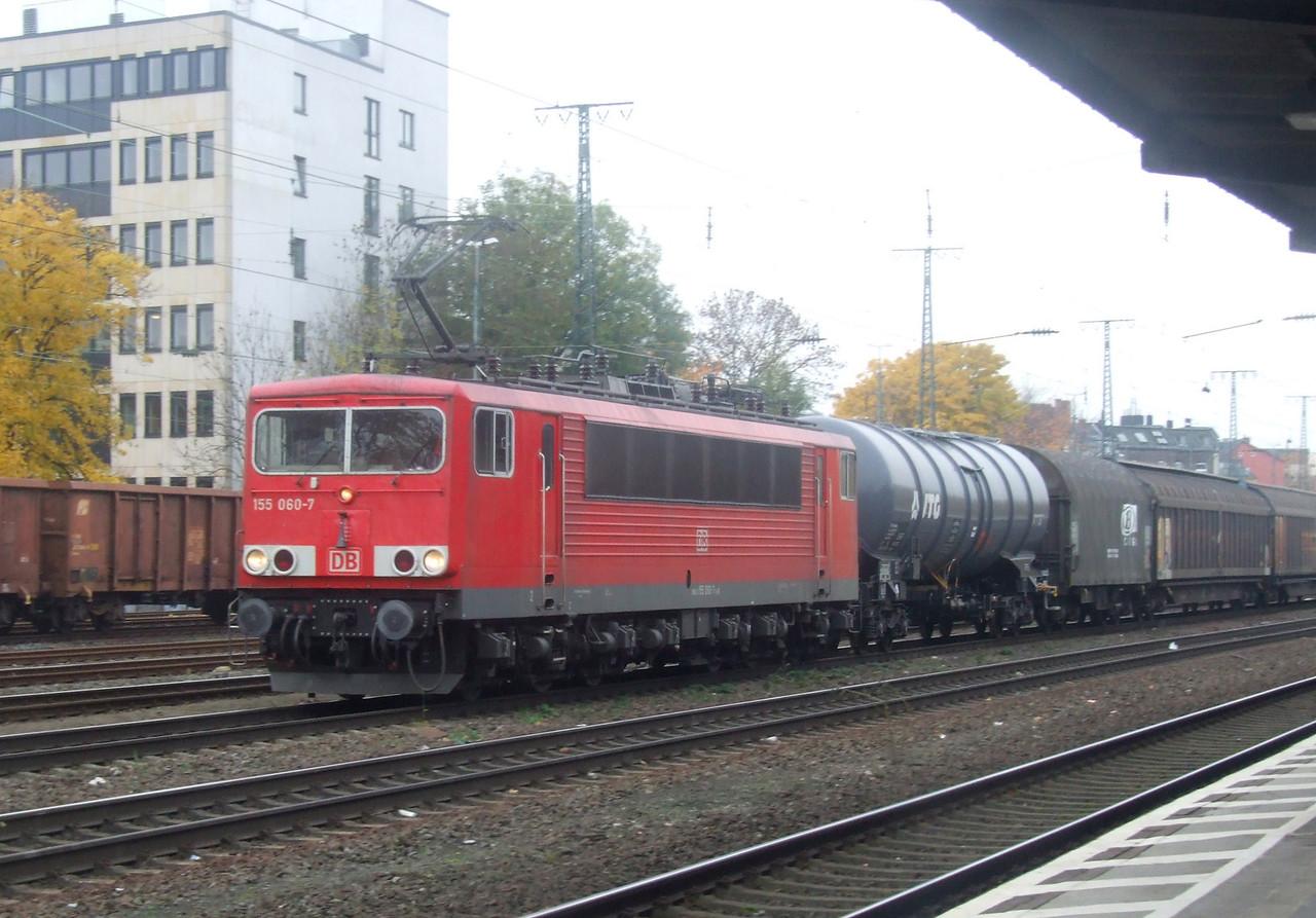 DB 155 060 at Köln West, 13th November 2012.