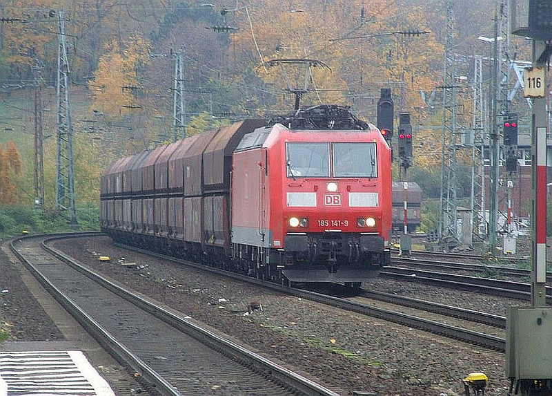 DB 185 141 at Köln West, 13th November 2012.