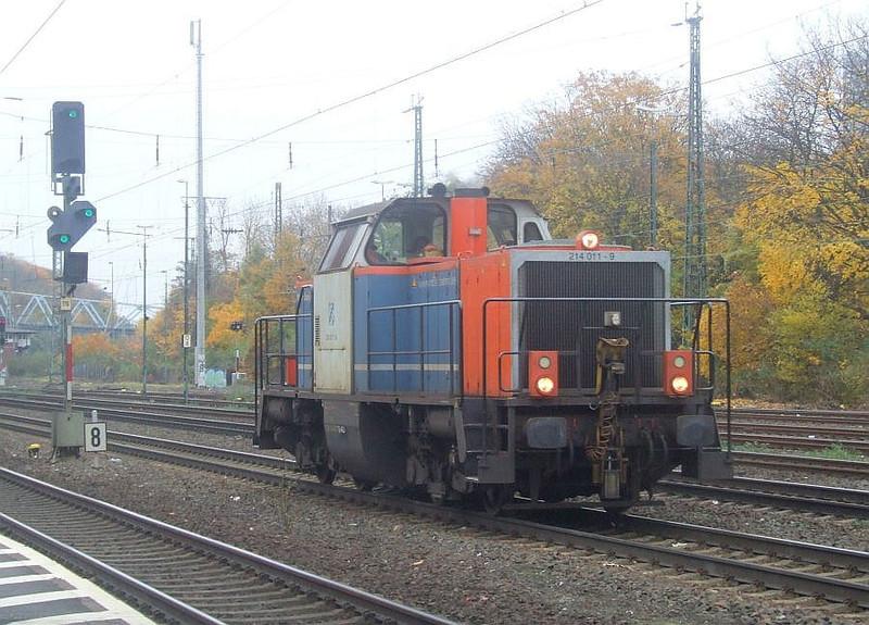 214 011 at Köln West, 13th November 2012.