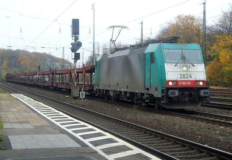 SNCB 2824 (186 216) at Köln West, 13th November 2012.