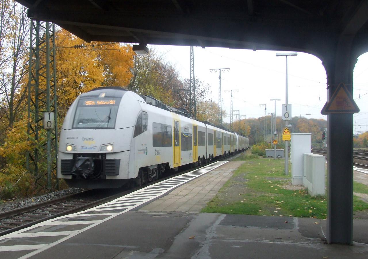 Inter Regio 460 007 + 460 011 at Köln West, 13th November 2012.