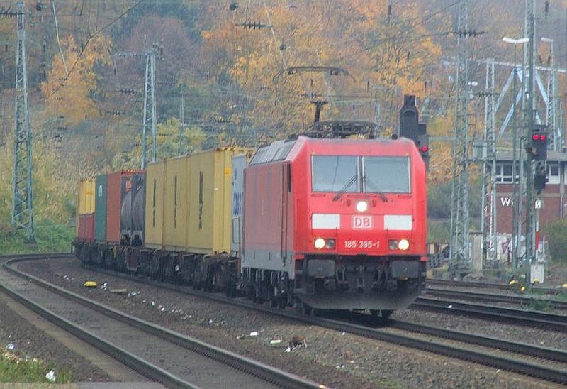 DB 185 395 at Köln West, 13th November 2012.