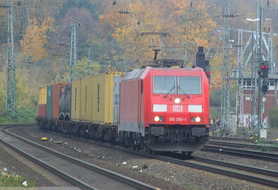 DB 185 395 at Köln West, 13th November 2012.