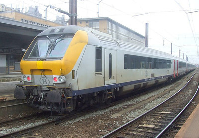SNCB driving trailer at Brussel Zuid, 12th November 2012.