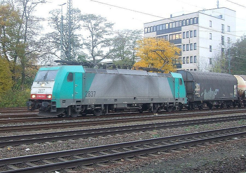 SNCB 2837 at Köln West, 13th November 2012.