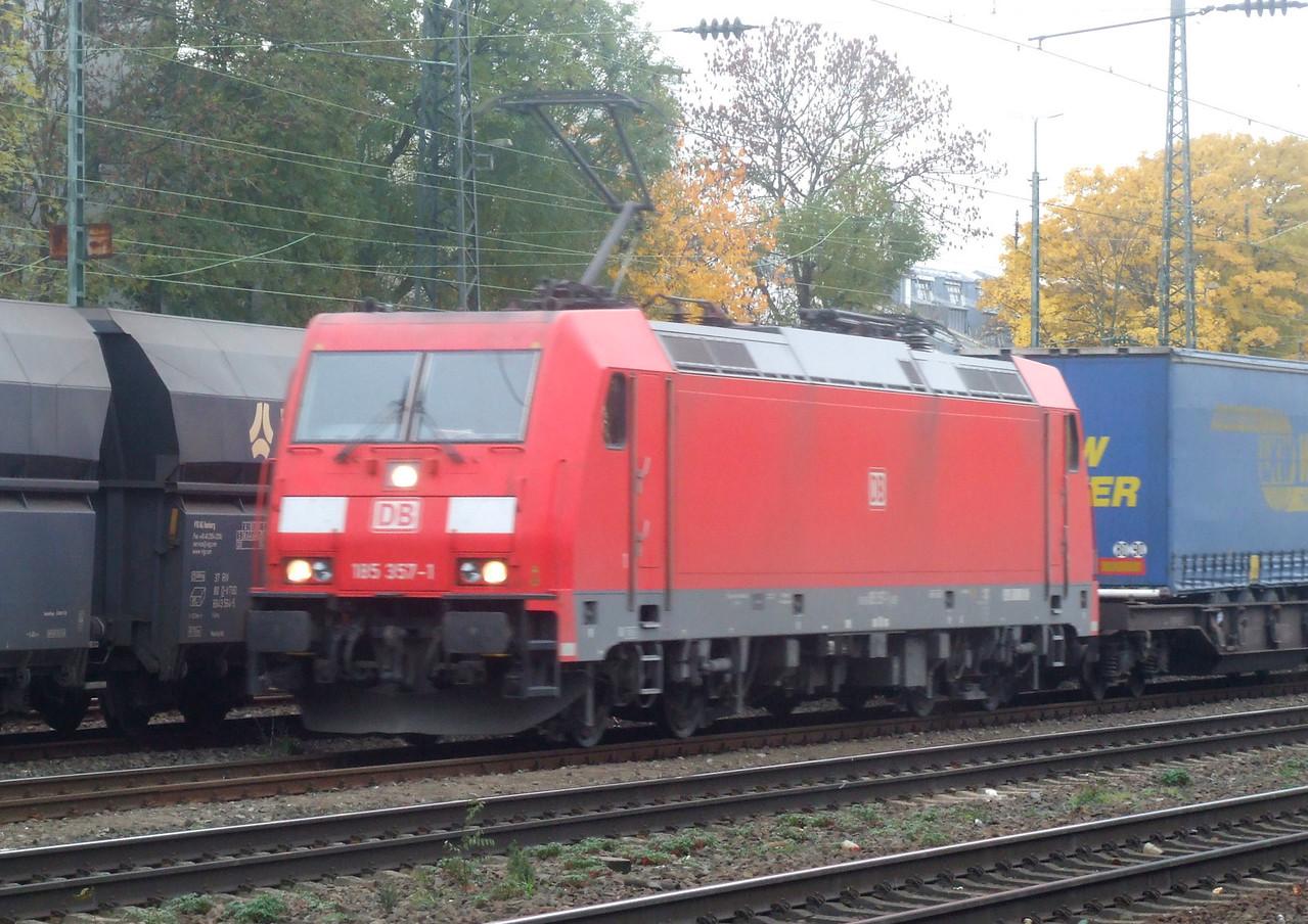 DB 185 357 at Köln West, 13th November 2012.