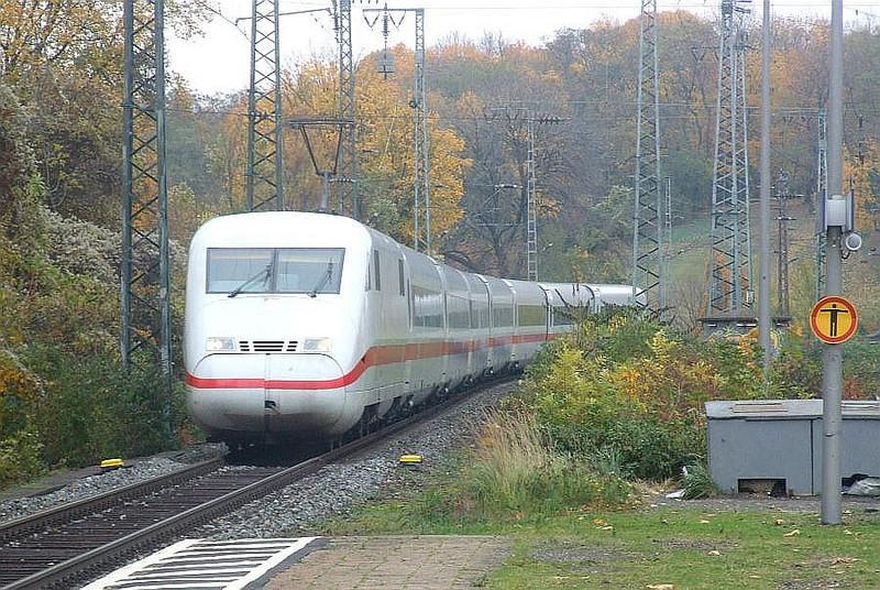 DB ICE unit 402 017 at Köln West, 13th November 2012.