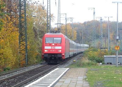 DB 101 107 at Köln West, 13th November 2012.