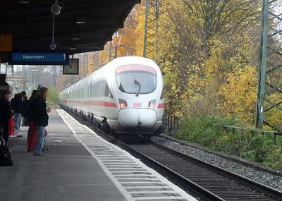 DB ICE units 411 005 & 411 067 at Köln West, 13th November 2012.