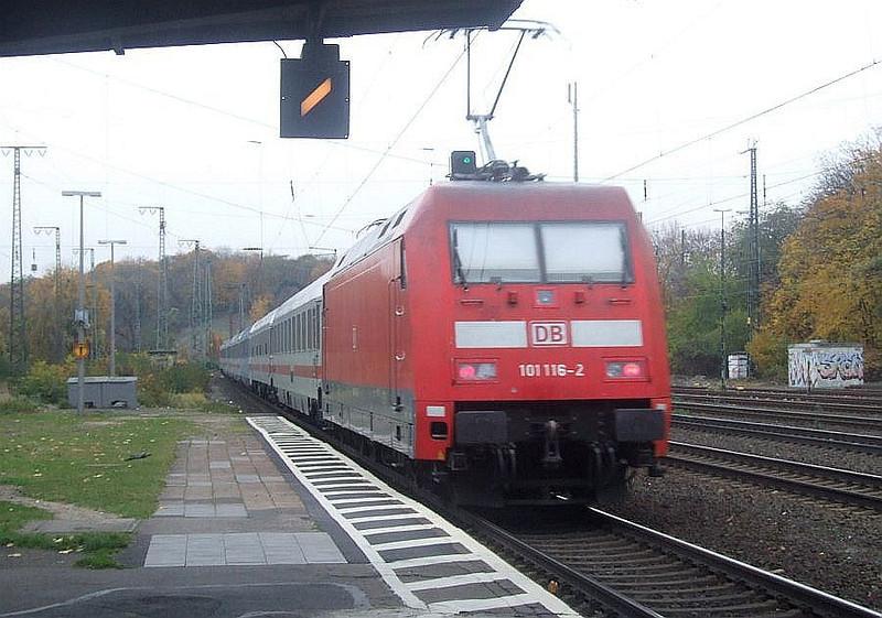 DB 101 116 at Köln West, 13th November 2012.