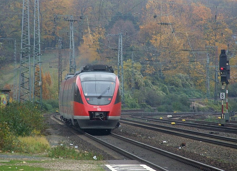 DB 644 513/013 at Köln West, 13th November 2012.