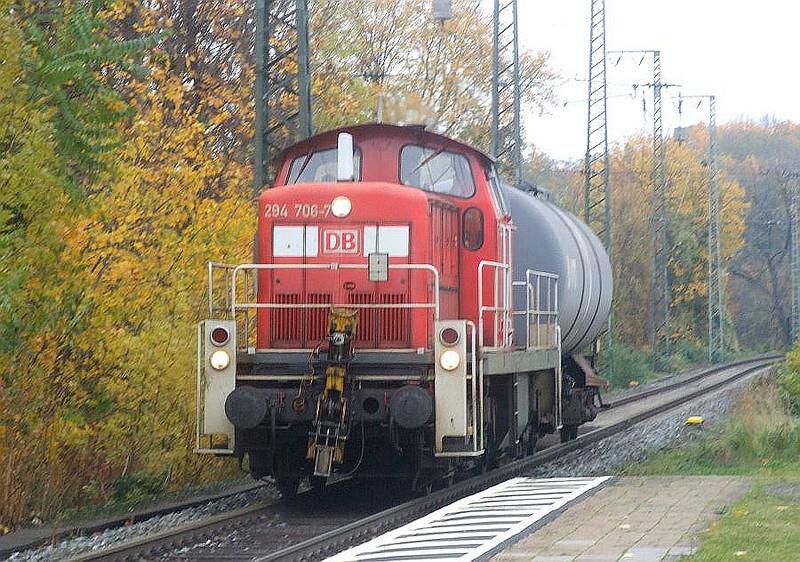 DB 294 706 at Köln West, 13th November 2012.