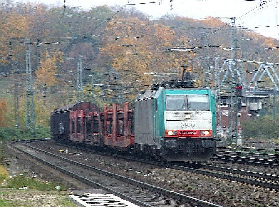 SNCB 2837 (E186 229) at Köln West, 13th November 2012.