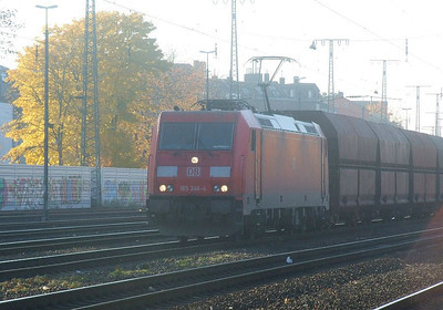 DB 185 346 at Köln West, 14th November 2012.