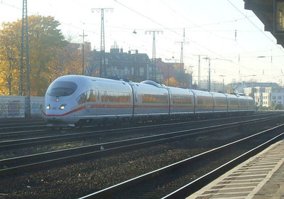 DB ICE 403-011 at Köln West, 14th November 2012.