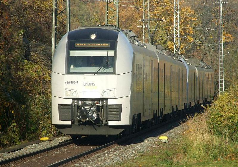 DB 460-503 + 460-015 at Köln West, 14th November 2012.