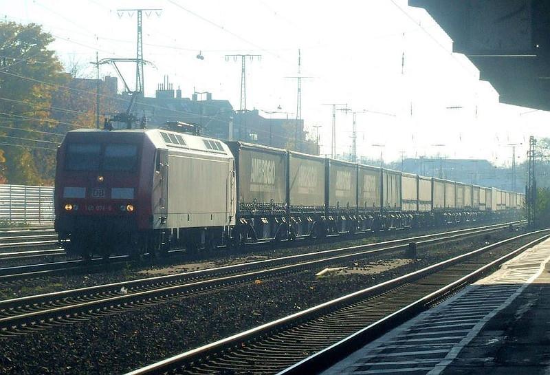 DB 145 076 at Köln West, 14th November 2012.