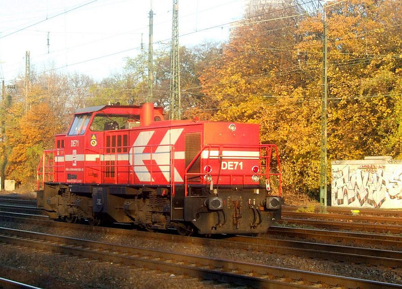 DE71 at Köln West, 14th November 2012.
