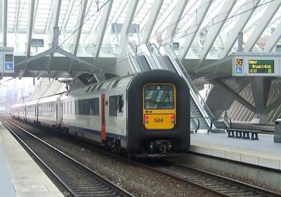 SNCB 566 at Liege Guillemins, 15th November 2012.