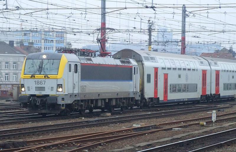 SNCB 1867 at Brussel Zuid, 15th November 2012.
