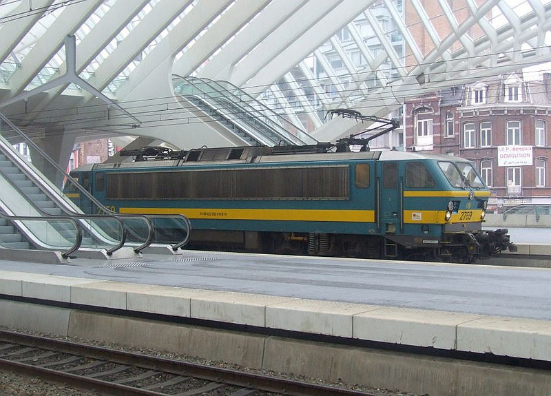 SNCB 2759 at Liege Guillemins, 15th November 2012.