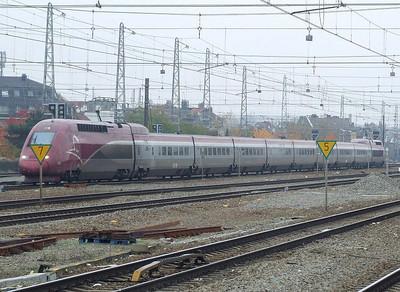 Thalys 4331 at Brussel Noord, 15th November 2012.