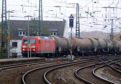 DB 145 008 at Aachen Hbf, 15th November 2012.
