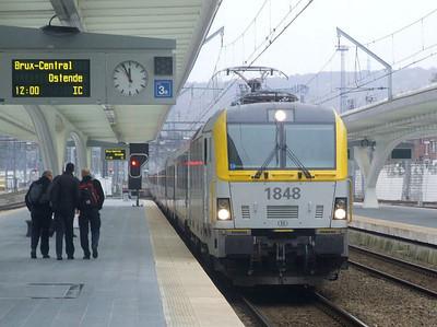 SNCB 1848 at Liege Guillemins, 15th November 2012.