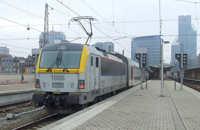 SNCB 1888 at Brussel Noord, 15th November 2012.