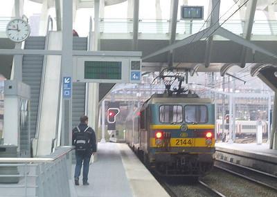 SNCB 2144 at Liege Guillemins, 15th November 2012.