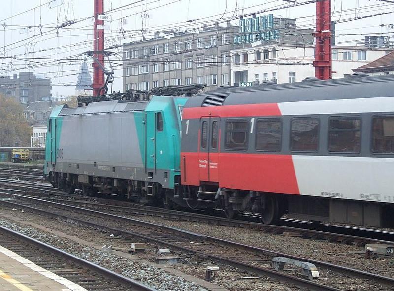 SNCB 2803 at Brussel Zuid, 15th November 2012.