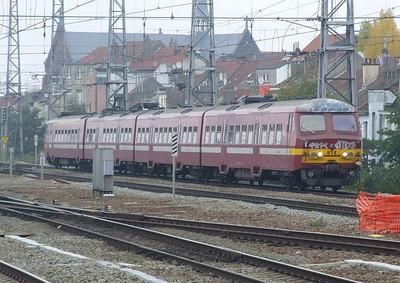 SNCB 814 at Brussel Noord, 15th November 2012.